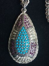 SARAH COVENTRY SILVER PLATED NECKLACE AND PENDANT WITH PRETTY STONES