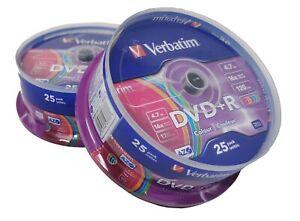 50 DVD+R verbatim AZO couleur, 4,7 Go x 16 ( 2 spindle de 25 )