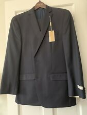 NWT Michael Kors 42L Navy100% Wool 2-Piece Suit - 2-Button Jacket, Flat Front