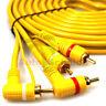 Cinch Kabel 5m Remote Leitung RCA Verstärker Endstufe Chinch Adapter Stecker KFZ
