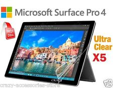 5x Ultra Clear Screen Protector Film Guard For Microsoft Surface Pro 4