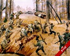 WWII 442ND JAPANESE AMERICAN SOLDIERS FIGHTING NAZIS PAINTING CANVASART PRINT