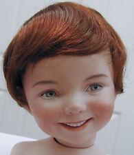 BABY style DOLL WIG Auburn 9-10 short straight hair for baby/toddler/boy DOLL