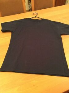 boys clothes 11-12 years Hanes Navy Cotton T-shirt Short Sleeved Top T-shirt