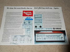 Yamaha CR-2020 Receiver Ad, 2 pg, 1977, Articles, Specs, Beautiful Ad!