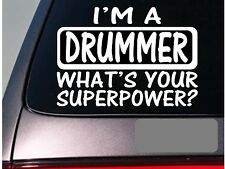 I'm a drummer sticker decal *E164* piano microphone pa system guitar drums