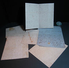 xRARE Confederate J Stockdale POW Surgeon Mountain Rangers Civil War Letters CSA