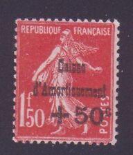 """FRANCE N°277 """" C.A. + 50c S. 1F50 ROUGE """" NEUF xx TTB"""