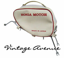 HONDA STEP THRU C50 C65 C70 C90 CM90 CM91 LEG SHIELD BAG W/ CHROME RACK [RD]