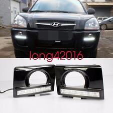 Exact Fit Hyundai Tucson 2005-2009 White LED DRL Daytime Running Lights Fog Lamp