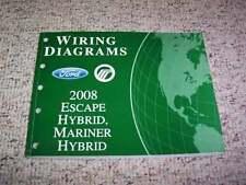 2008 Ford Escape Hybrid Electrical Wiring Diagram Manual 2.3L 4Cyl