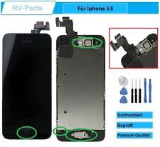 Display für iPhone 5S LCD mit RETINA Glas Scheibe KOMPLETT VORMONTIERT Schwarz