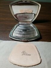 Vintage Elgin American Clamshell Makeup Compact Sterling Silver w/Gold Plating