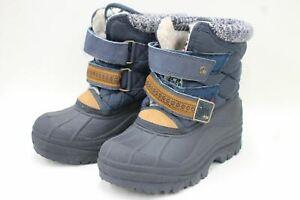 NEXT Boy's Navy Blue Waterproof Fleece Lined Ankle Snow Boots Size UK11 EU29
