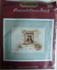 Semco 14.7 x 19.5cm Stone Cottage Window No 1386.2 Counted Cross Stitch