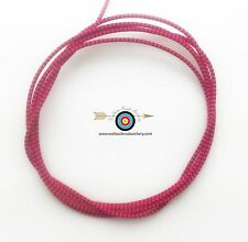 100' BCY Pink/Black Speckled D Loop Rope Archery Bowstring Rope Drop Away