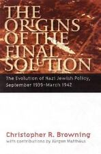 """BROWNING'S """"THE ORIGINS OF THE FINAL SOLUTION"""" --NEW HARDCOVER !"""