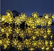 Supfait 60 LED 36ft fairy lotus flower solar string light party wedding gift