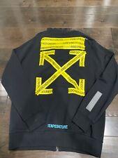 Off White Virgil Abloh Zipper Hoodie Black Size M (Oversize) 100% Authentic