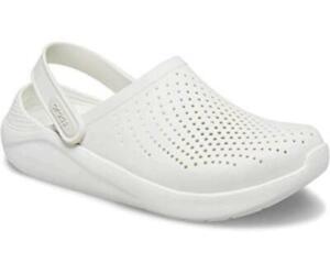 Crocs Women's Men's Literide Clog | Athletic Slip on Comfort, White, Size 7.0 4B