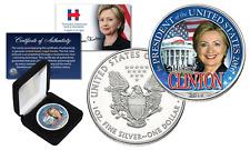 HILLARY CLINTON White House 2016 PURE 1oz SILVER AMERICAN EAGLE with Premium BOX