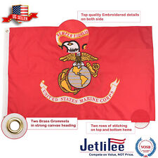 U.S. Marine Corps Military Flag 3 x 5 Ft Double Sided Embroidered Flag