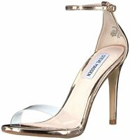Steve Madden Womens Stecy Open Toe Casual Ankle Strap, Rose Gold, Size 6.5 EXeh