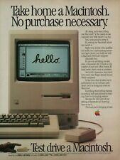 New listing 1984 Apple Test Drive A Macintosh Computer Monitor Keyboard Mouse Photo Print Ad