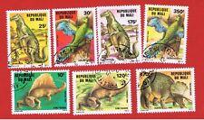 Mali #504-510 VF used  Dinosaurs   Free S/H