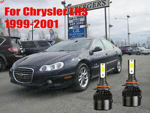 LED For Chrysler LHS 1999-2001 Headlight Kit 9006 HB4 White CREE Bulbs Low Beam