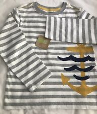 Crazy8 Toddler Boy Long Sleeve Striped Nautical Top 4T NWT