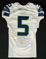 Seattle Seahawks Blank #5 Team Issued Worn Road Jersey with COA - SA 09267