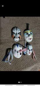 Ceramic Painted Masks Random Masks Lot of Four