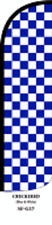 Blue  Checkers Windless Swooper Flag  Sign