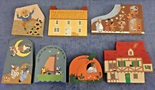Cats Meow Village Nursery Rhyme Series 7 pieces, signed Faline 1990s