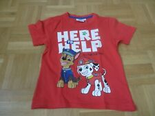 rotes T-Shirt, kurzarm, Gr. 116, Paw Patrol