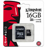 Kingston micro SD SDHC Memory Card 16GB Classe 10 UHS-I Card con adattatore