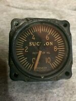 Vintage Pioneer / Bendix Suction Gauge 2601 1A B1 5363 FROM WW2 PLANE