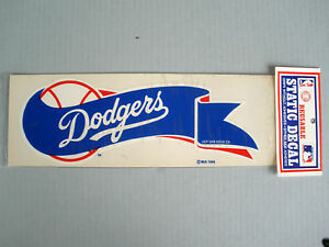 RARE MINT SEALED LOS ANGELES DODGERS 1989 VINTAGE STATIC WINDOW DECAL STICKER