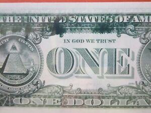 $1 1977 federal reserve graded error: ink smear  26-101