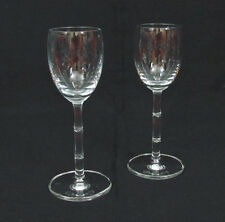 """2 Schott Zwiesel Bamboo Crystal Cordial Glasses 5 1/2"""" Etch Marked"""