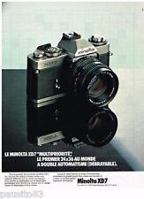 PUBLICITE ADVERTISING 095  1977  MINOLTA  appareil photo XD7
