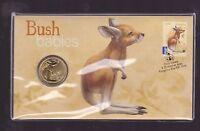 2011 Australian Bush Babies Series Kangaroo $1 Coin Stamp Set PNC FDC