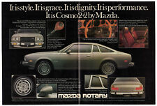 1976 MAZDA Cosmos 2+2 Vintage Original centerfold Print AD Gray car photo Canada