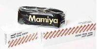 Mamiya RB / RZ Kameragurt - Neck Strap -  BLACK & GOLD Edition Neu / New + lugs