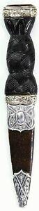 VICTORIAN SCOTTISH SILVER HALLMARKED SKEAN DHU.DAGGER, 1901. SGIAN DUBH #9585