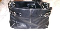 Tommy Hilfiger Black Shoulder Bag Purse Leather EUC Small