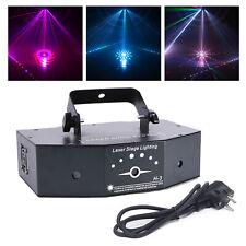 500mW RGB Laserlicht 3 Objektiv 8CH DJ Bühnenbeleuchtung Party Show DMX Projekto