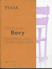 PIASA SERRURIER BOVY Design Masterworks Collection Auction Catalog 2015