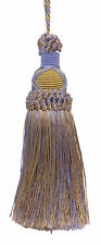 "Lavender Blue Taupe 5.5"" Decorative Key Tassel Periwinkle Gold [Invidual]"